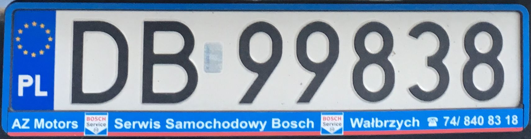 Registrační značka Polsko – DB – Wałbrzych, foto: www.podalnici.cz