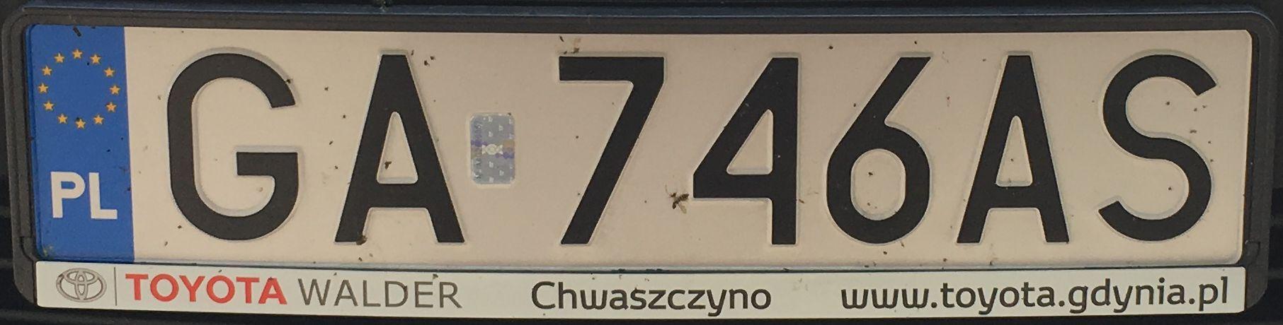 Registrační značka Polsko – GA – Gdynia, foto: www.podalnici.cz
