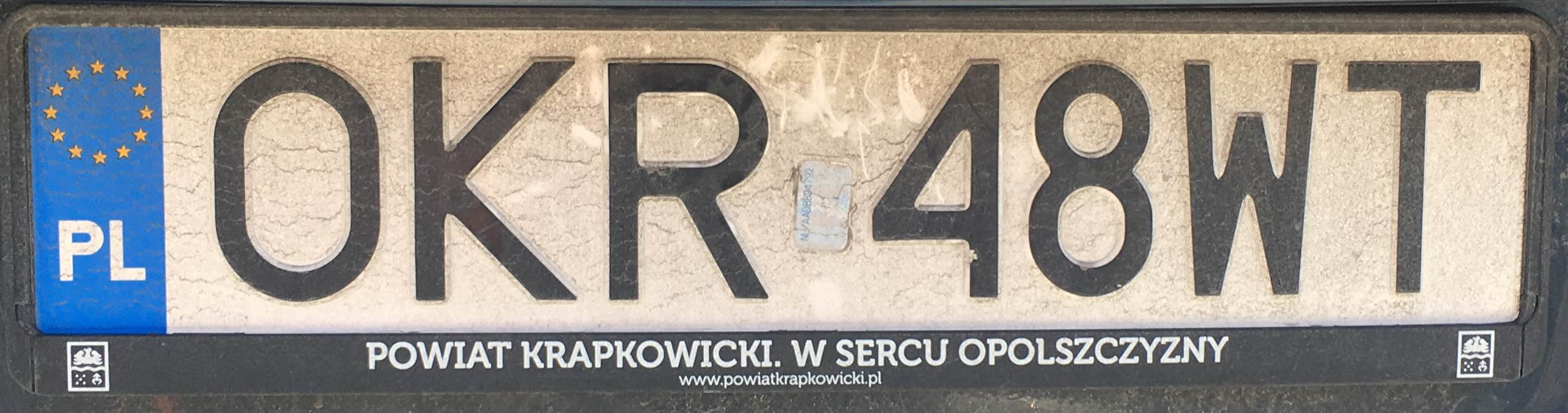 Registrační značka Polsko - OKR - Krapkowice, foto: www.podalnici.cz