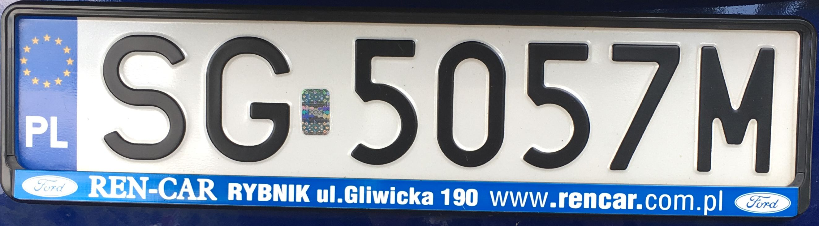 Registrační značka Polsko – SG – Gliwice, foto: www.podalnici.cz
