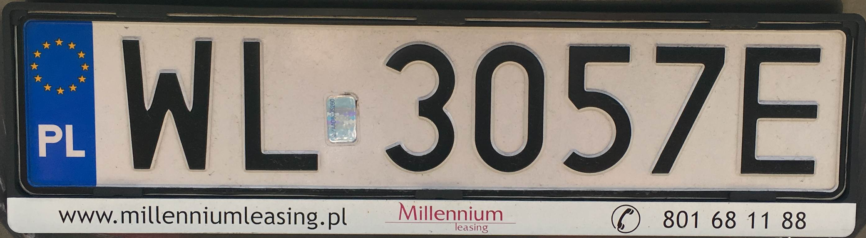 Registrační značka Polsko – WL - Legionovo, foto: vlastní