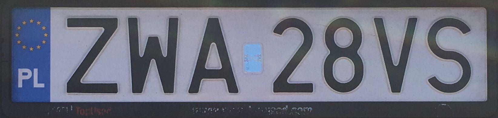 Registrační značka Polsko - ZWA - Wałcz, foto: www.podalnici.cz