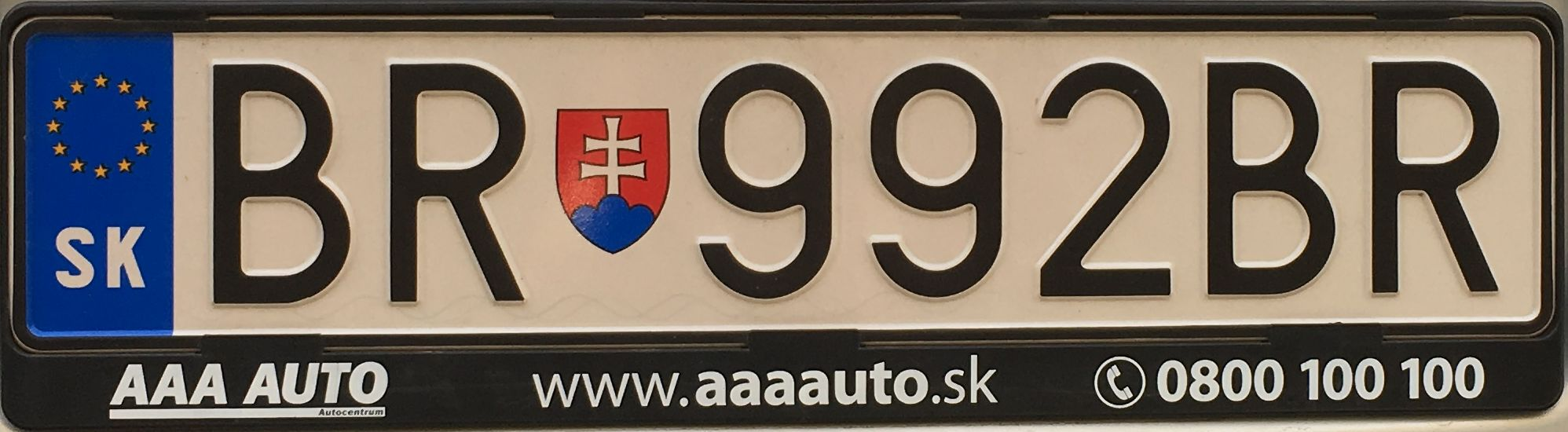 Registrační značka Slovensko - BR - Brezno, foto:www.podalnici.cz