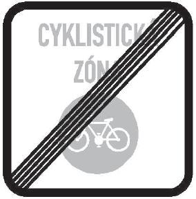 Konec zóny pro cyklisty