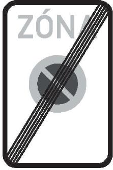 Konec zóny s dopravním omezením