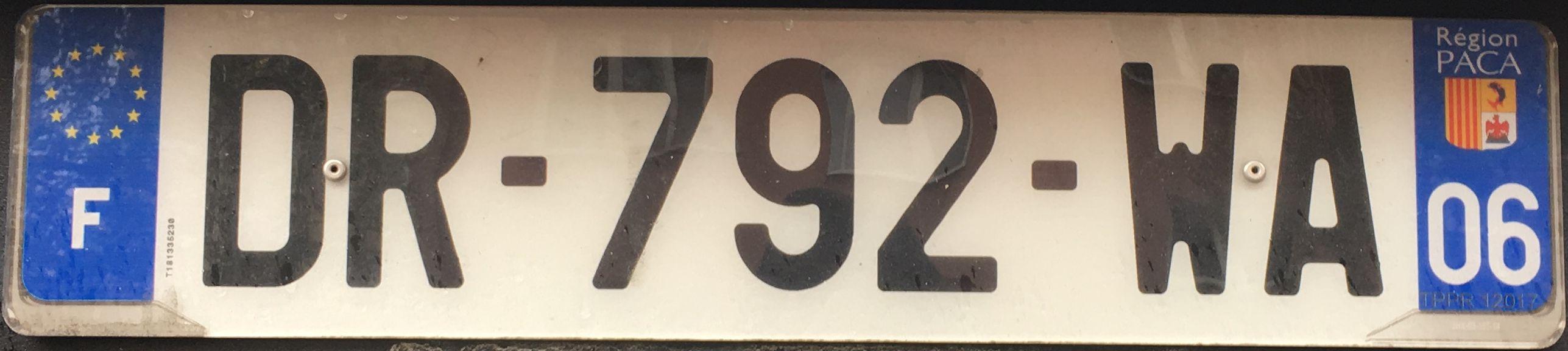 Francouzská registrační značka – 06 – Alpes-Maritimes, foto: www.podalnici.cz