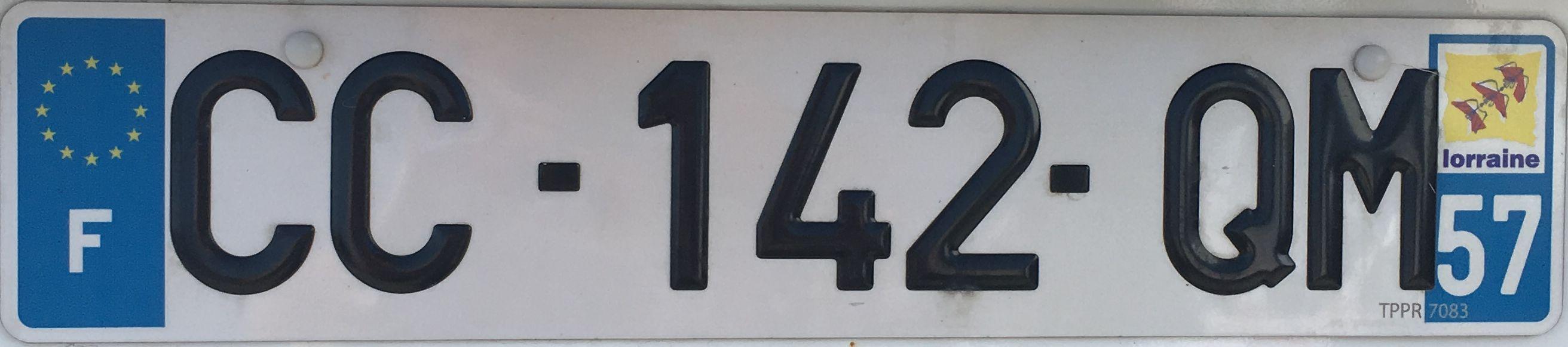 Francouzská registrační značka - 57 - Moselle, foto: www.podalnici.cz