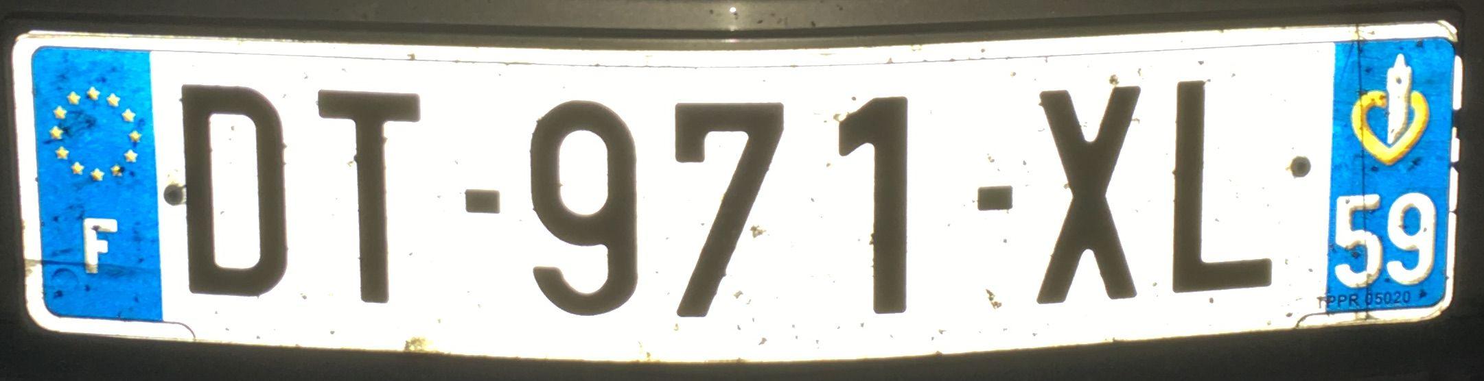 Francouzská registrační značka – 59 – Nord, foto: www.podalnici.cz
