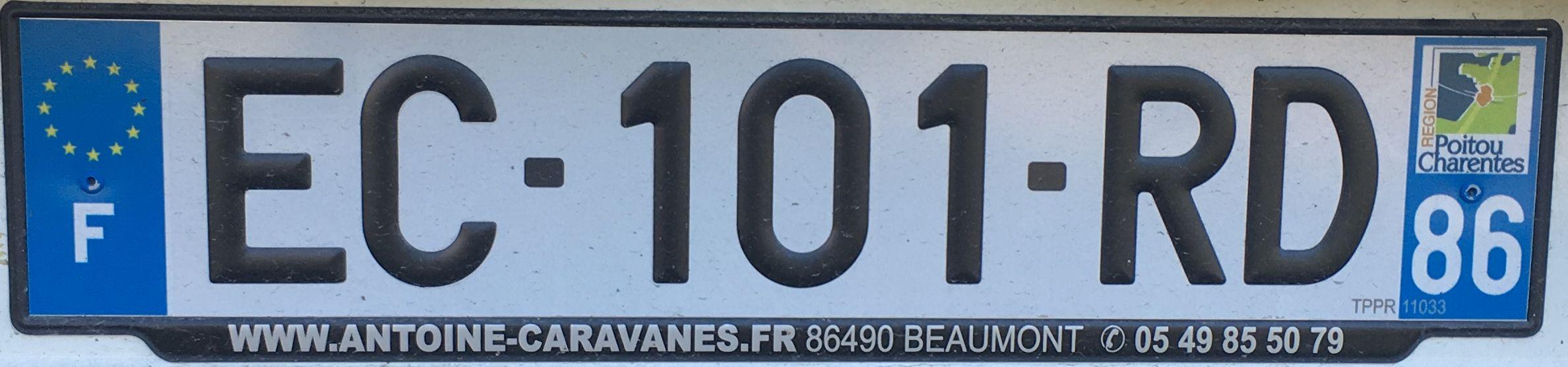 Francouzská registrační značka - 86 - Vienne, foto:www.podalnici.cz
