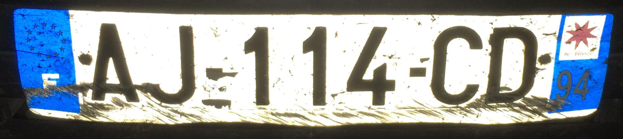 Francouzská registrační značka – 94 – Val-de-Marne, foto: www.podalnici.cz