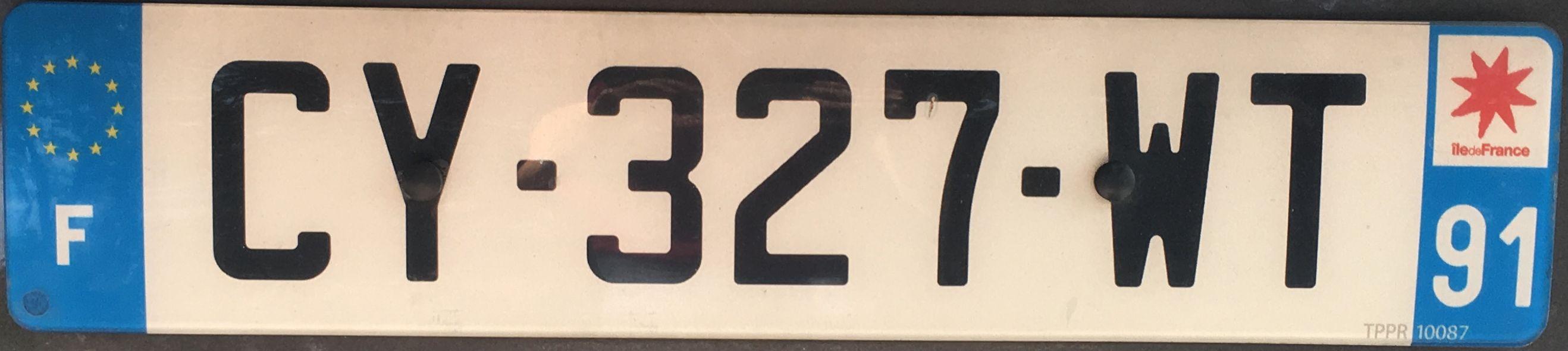 Francouzská registrační značka – 91 – Essonne, foto: www.podalnici.cz