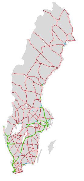 Dálniční síť ve Švédsku