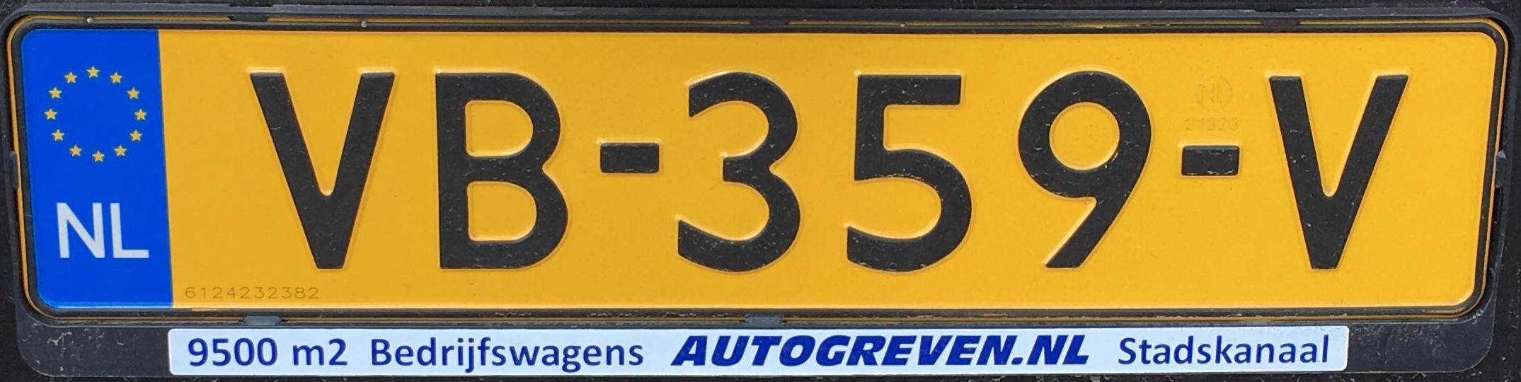 Nizozemská registrační značka – nákladní automobily nad 3,5 tuny, foto: vlastní