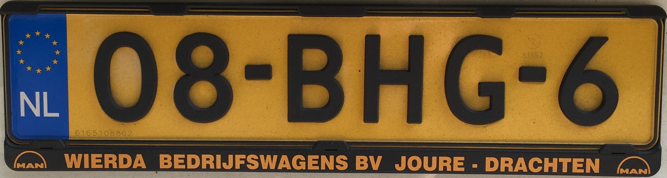 Nizozemská registrační značka – nákladní automobily do 3,5 tuny a autobusy, foto: vlastní