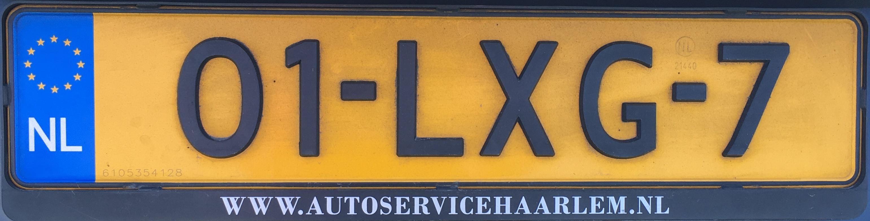 Nizozemská registrační značka běžná - formát 7, foto: vlastní.