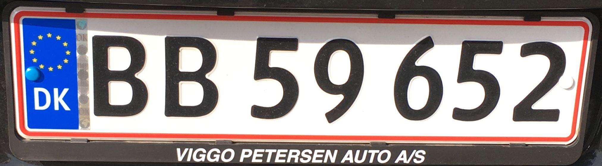 Registrační značka Dánsko - běžná, foto: www.podalnici.cz