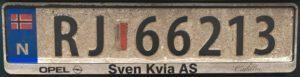 Registrační značky Norsko - RJ - Stavanger, foto: www.podalnici.cz