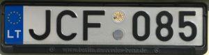 Registrační značka Litva - běžná, foto: vlastní