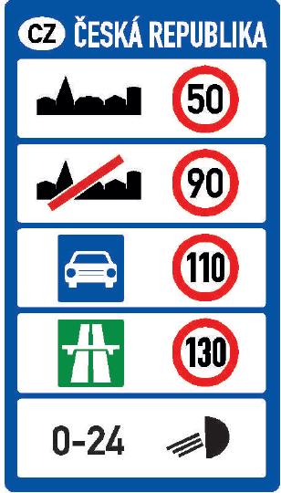 Nejvyšší dovolené rychlosti