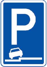 Parkoviště částečné stání na chodníku podélné