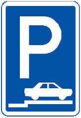 Parkoviště stání na chodníku kolmé nebo šikmé