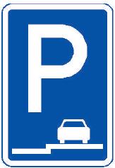 Parkoviště stání na chodníku podélné
