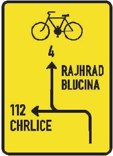Návěst před křižovatkou pro cyklisty