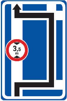 Návěst před křižovatkou s omezením Značka informuje o omezení provozu nebo o nebezpečí za nejbližší křižovatkou a o směru objíždění.