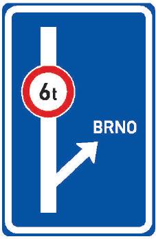 Návěst před křižovatkou s omezením Značka informuje o omezení provozu nebo o nebezpečí za nejbližší křižovatkou.