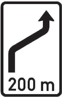 Návěst změny směru jízdy II