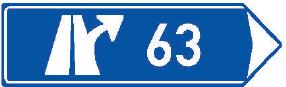 Směrová tabule pro výjezd