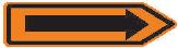 Směrová tabule pro vyznačení objížďky II