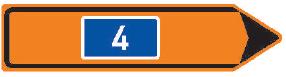 Směrová tabule pro vyznačení objížďky III