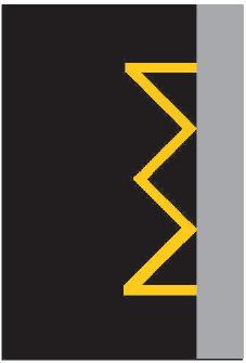 Žlutá klikatá čára