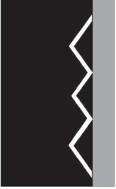Bílá klikatá čára