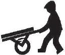 Chodec s ručním vozíkem