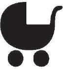Osoba doprovázející dítě v kočárku