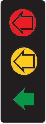 Tříbarevná soustava se směrovými signály