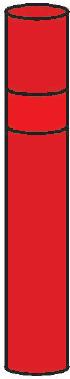 Směrový sloupek červený kulatý