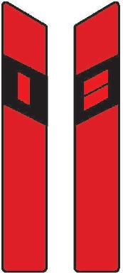 Směrový sloupek červený levý