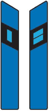 Směrový sloupek modrý levý