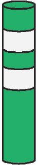 Směrový sloupek zelený kulatý - baliseta