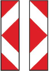 Směrovací deska se šipkou doleva