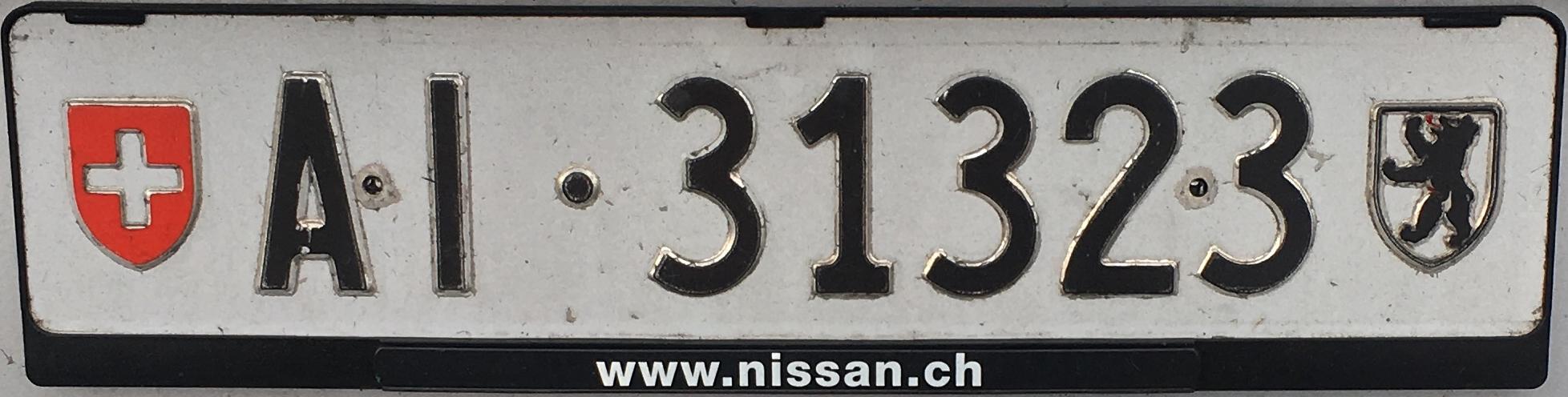 Registrační značky Švýcarsko – AI – Appenzell Innerrhoden, foto: www.podalnici.cz