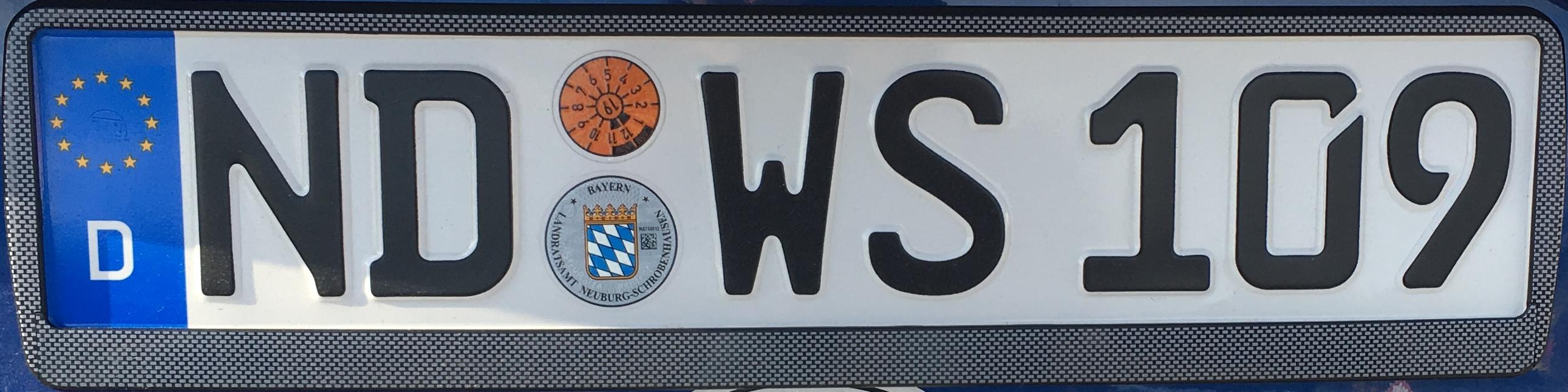 Registrační značky Německo – ND – Neuburg-Schrobenhausen, foto: www.podalnici.cz