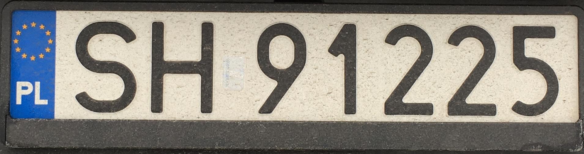 Registrační značka Polsko – SH – Chorzów, foto: www.podalnici.cz