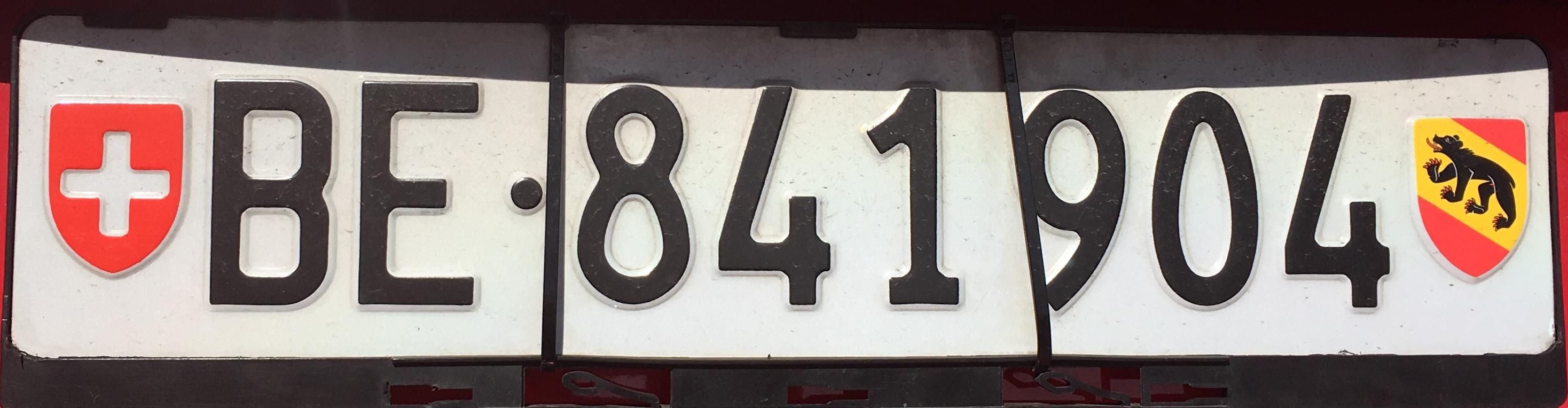 Registrační značky Švýcarsko – BE - Bern, foto: www.podalnici.cz