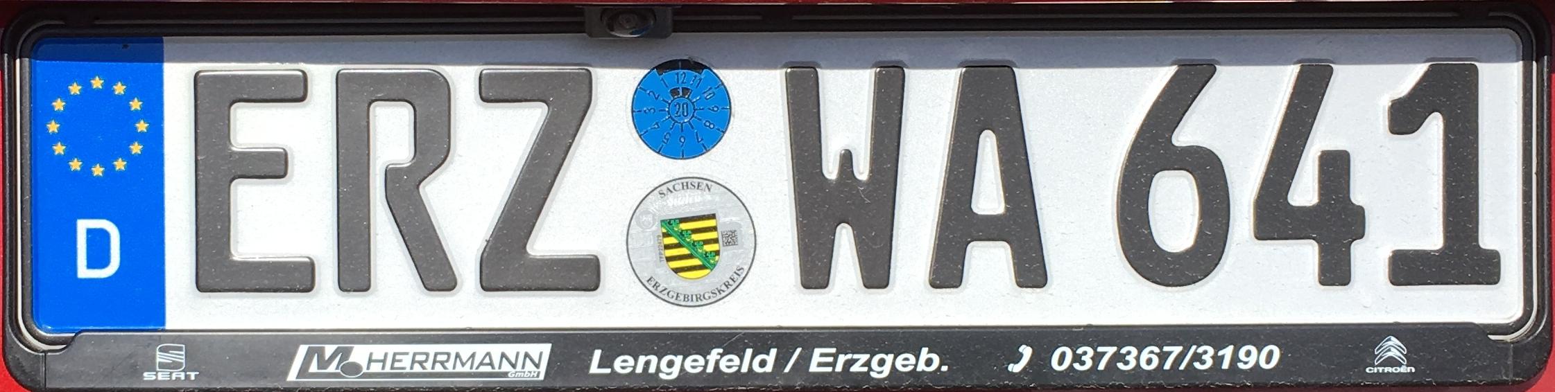 Registrační značky Německo – ERZ – Annaberg-Buchholz, foto: www.podalnici.cz
