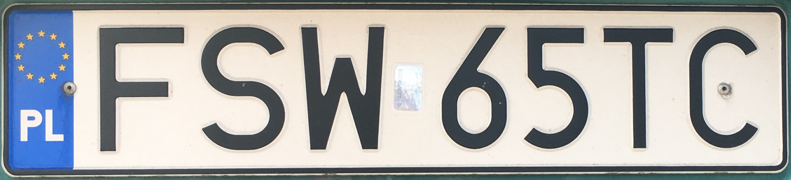 Registrační značka Polsko – FSW - Świebodzin, foto: www.podalnici.cz
