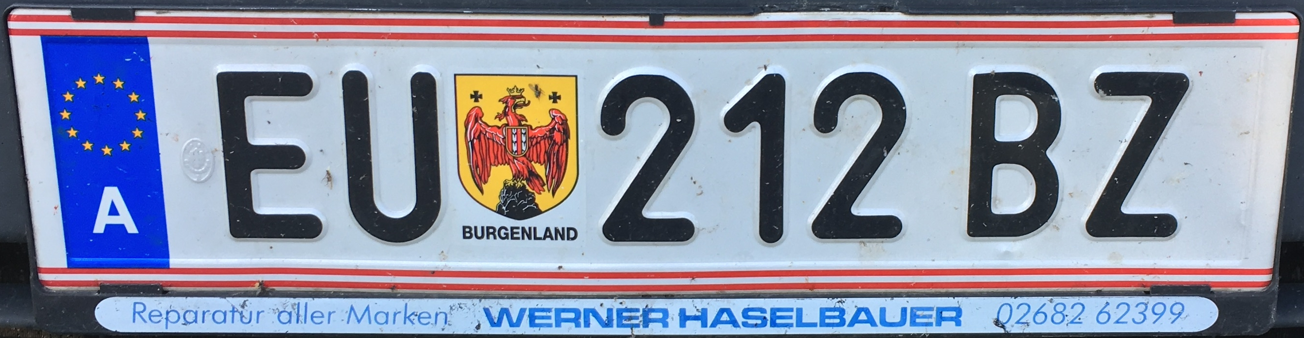 Registrační značka Rakousko - EU - Eisenstadt-venkov, foto: www.podalnici.cz
